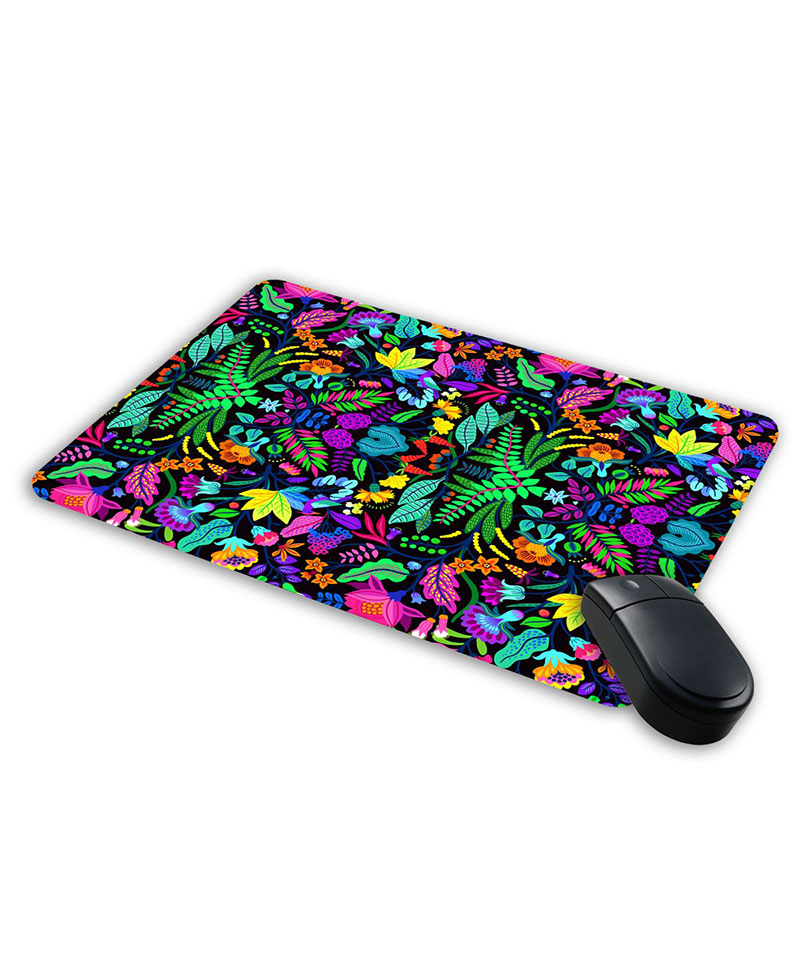 Jikraa Mousepad for computer and laptops   Designer Print Mousepad   Floral print Mouse pad